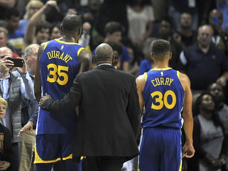 Curry y Durant perdieron la cabeza