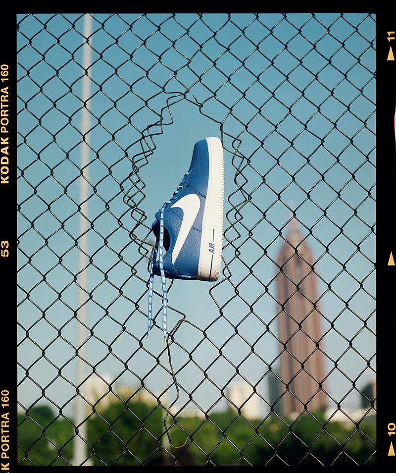 AF1 azul con el logo de la NBA foto 2