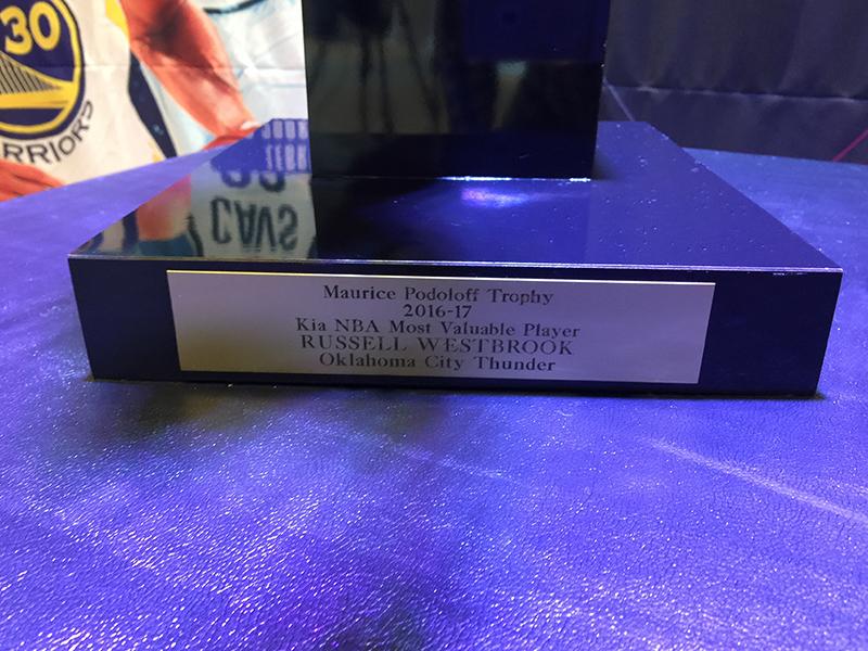 El trofeo MVP de visita en México
