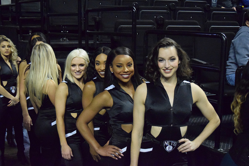 Brooklynettes en el NBA global games CDMX