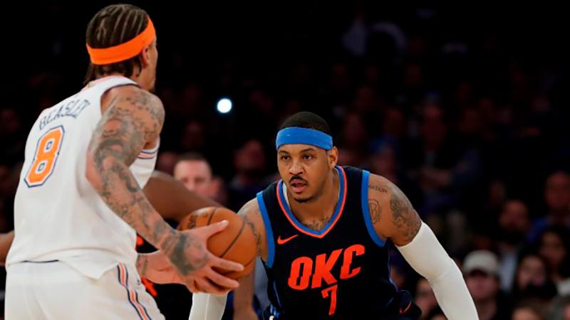 Ovacionaron a Melo y ganaron los Knicks