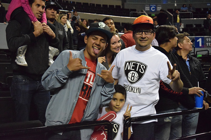 Nets Fans en el NBA global games CDMX