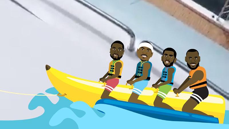 Carmelo esperaba reunir al Banana Boat en Houston
