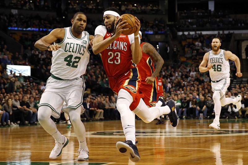 Anthony Davis le puso un alto a los Celtics