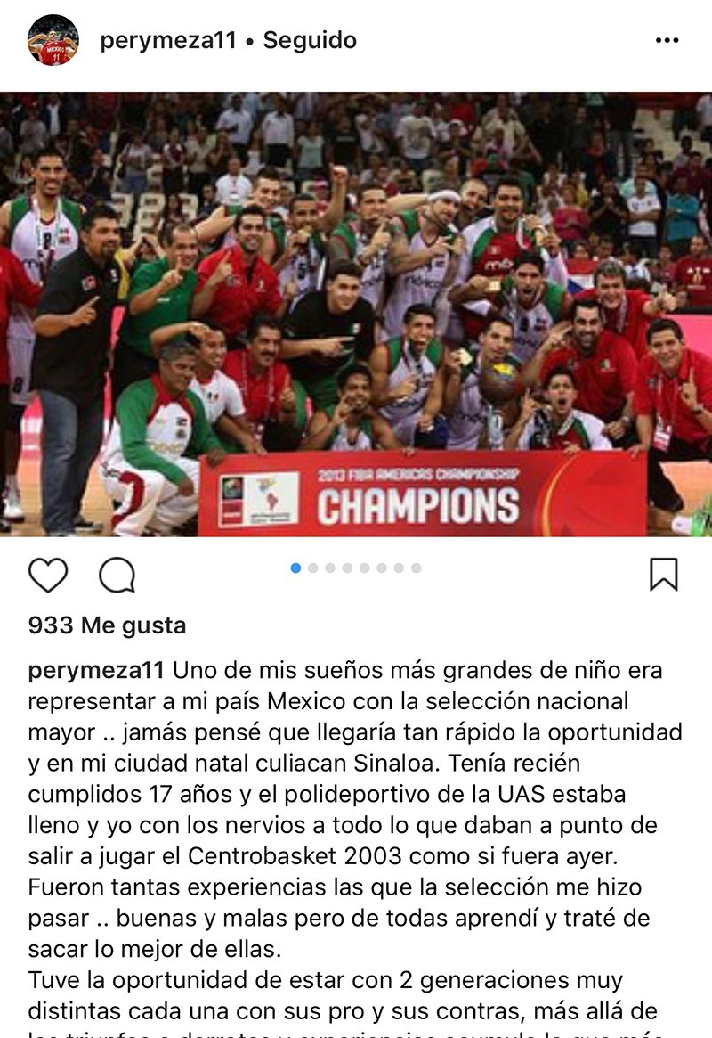 Pery Meza dice adiós a la Selección Mexicana