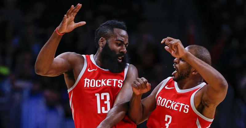 James Harden se echó a los Rockets al hombro