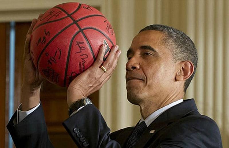 ¿Donald Trump jugando basquetbol?