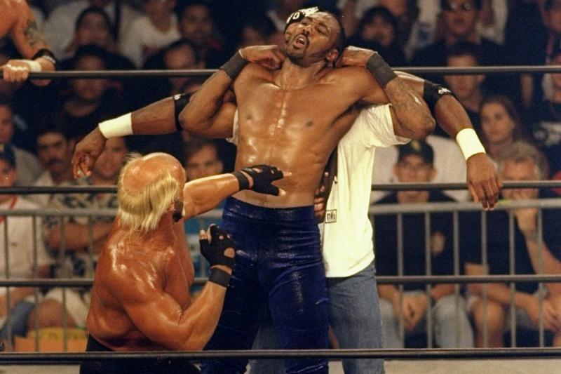 Dennis Rodman y Karl Malone en las luchas