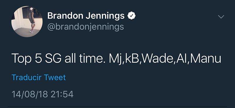 Brandon Jennings a la defensa de Manu Ginóbili
