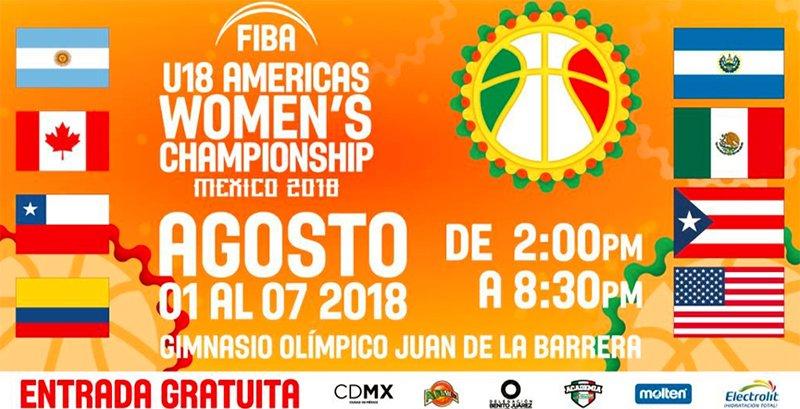 Día y horarios del FIBA Americas U18 Femenil