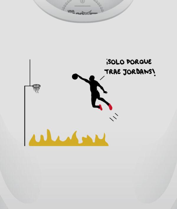 solo por que trae jordans, playera diseñada por viva basquet