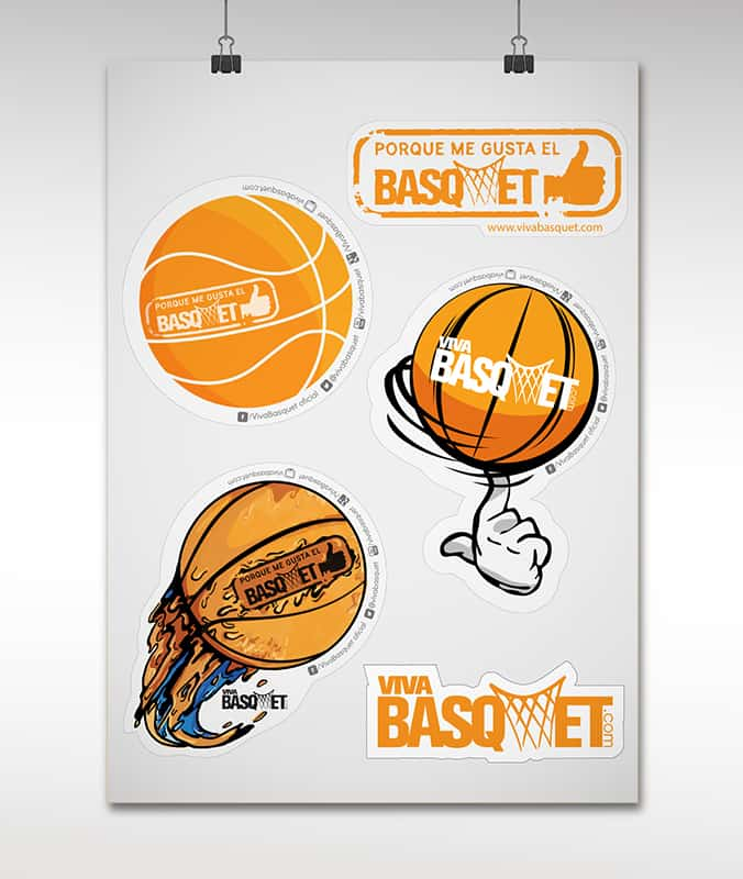 stickers de viva basquet