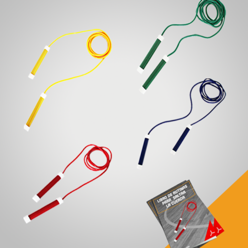 Cuerda para saltar. Entretenida, práctica y deportiva está disponible en varios colores y longitudes.