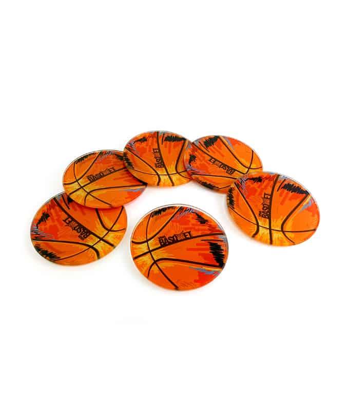 portavasos de vidrio con diseño de balon a la venta en viva basquet tienda foto 2