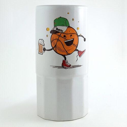 tarro con diseño de balon borracho a la venta en viva basquet tienda
