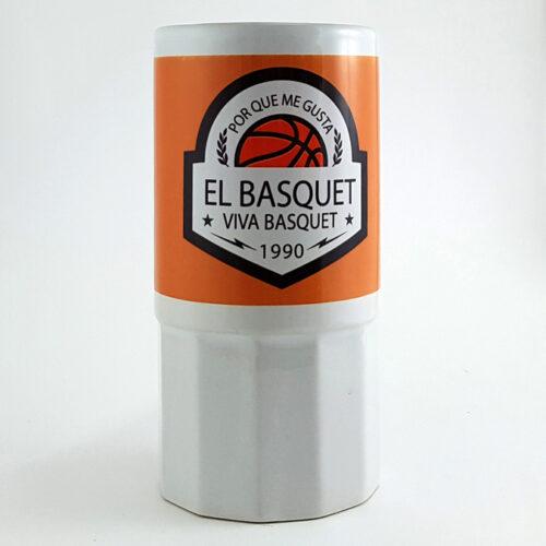 tarro con diseño de escudo basquetboleroa la venta en viva basquet tienda