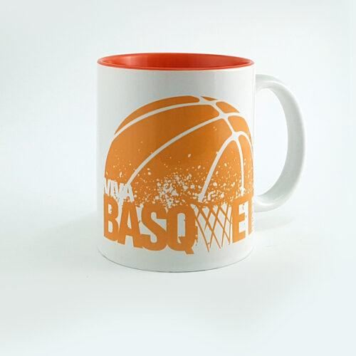 taza con increible diseño de viva basquet, compralo en linea en la tienda de viva basquet.
