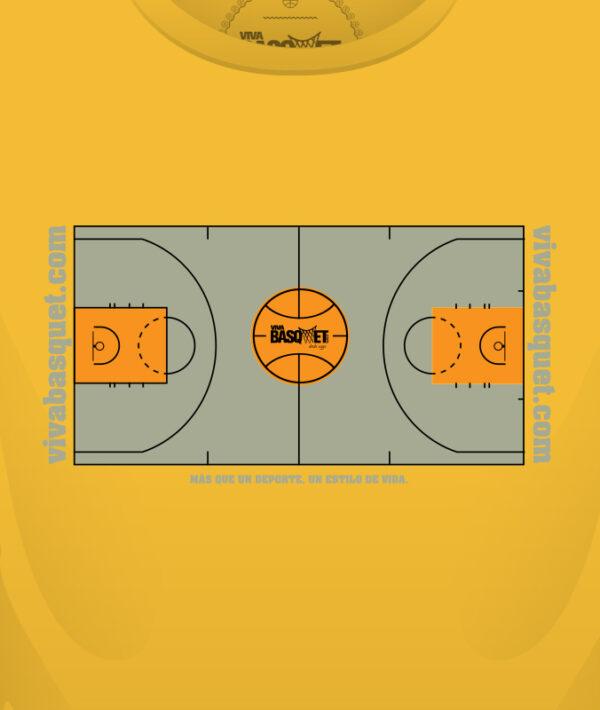 playera amarilla con diseño único de cancha basketball a la venta en viva basquet tienda foto 3