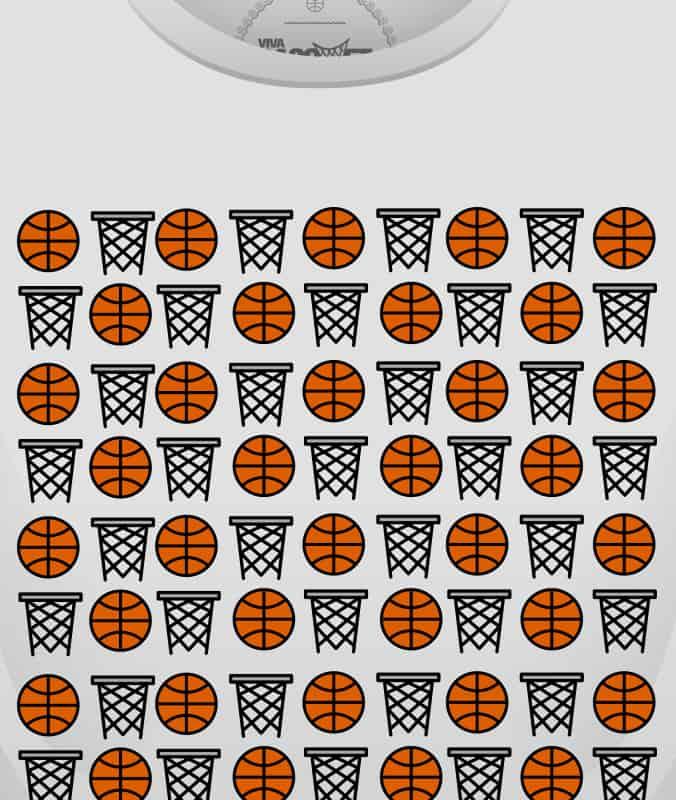 diseño unico de playera canastas y balones a la venta en la tienda de viva basquet foto 3