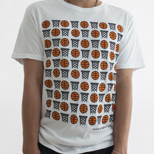 diseño unico de playera canastas y balones a la venta en la tienda de viva basquet