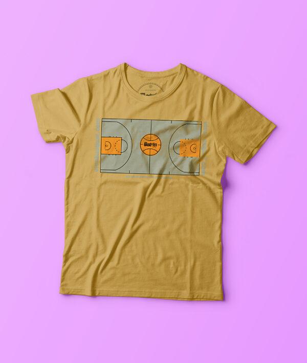 playera amarilla con diseño único de cancha basketball a la venta en viva basquet tienda foto 2