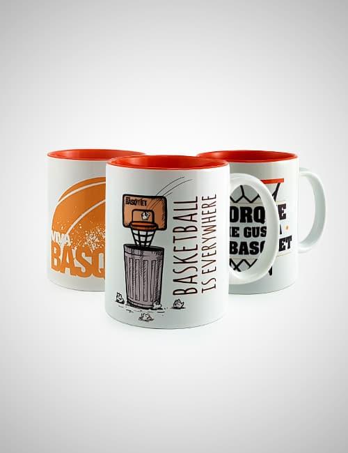 Paquete Tazas Viva Basquet, llévate los 3 modelos a un precio excelente
