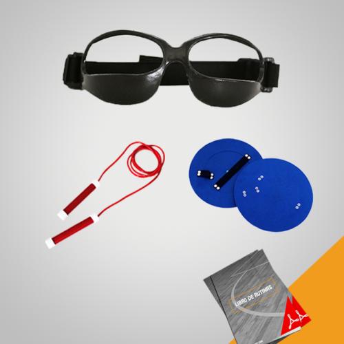 Paquete Vor Sports con cuerda, paletas de tiro y lentes de drible con rutnias descargables en pdf.