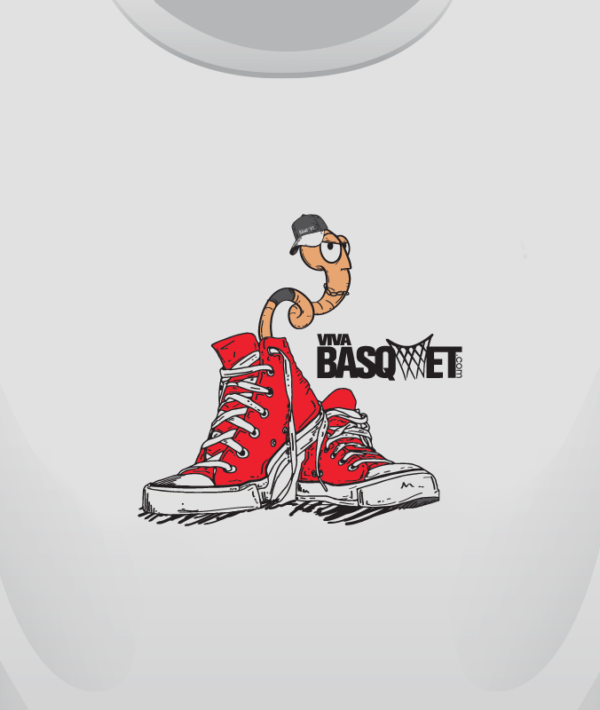 Playera: Gusano en Sneakers