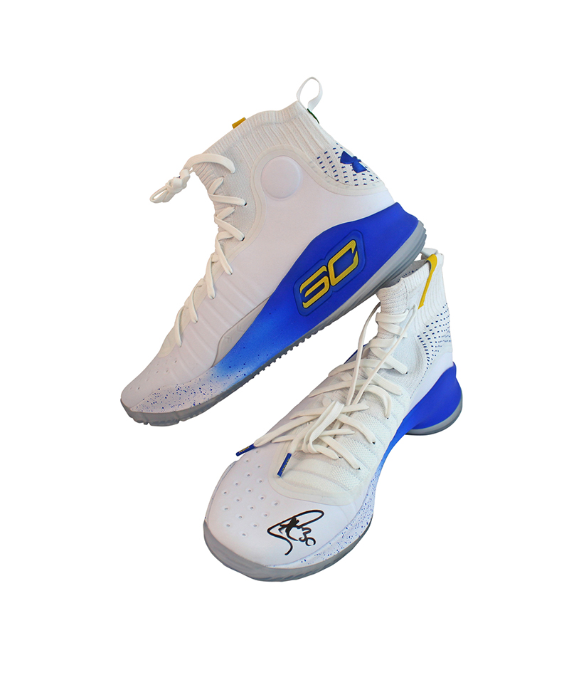 Tenis Under Armor originales firmados por Stephen Curry