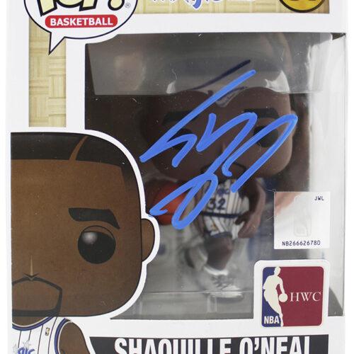 NBA HWC Funko Pop Vinyl Figure firmado por Shaquille O'Neal de Orlando Magic. Con firma color azul.