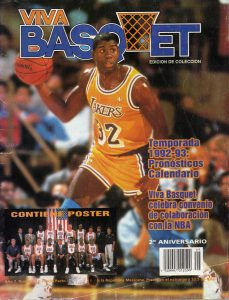 magic johnson jugador de basquetbol y viva basquet