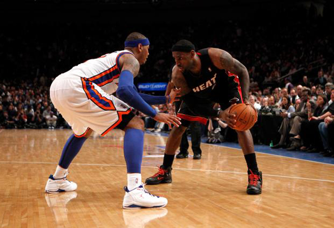 leBron james vs new york knicks