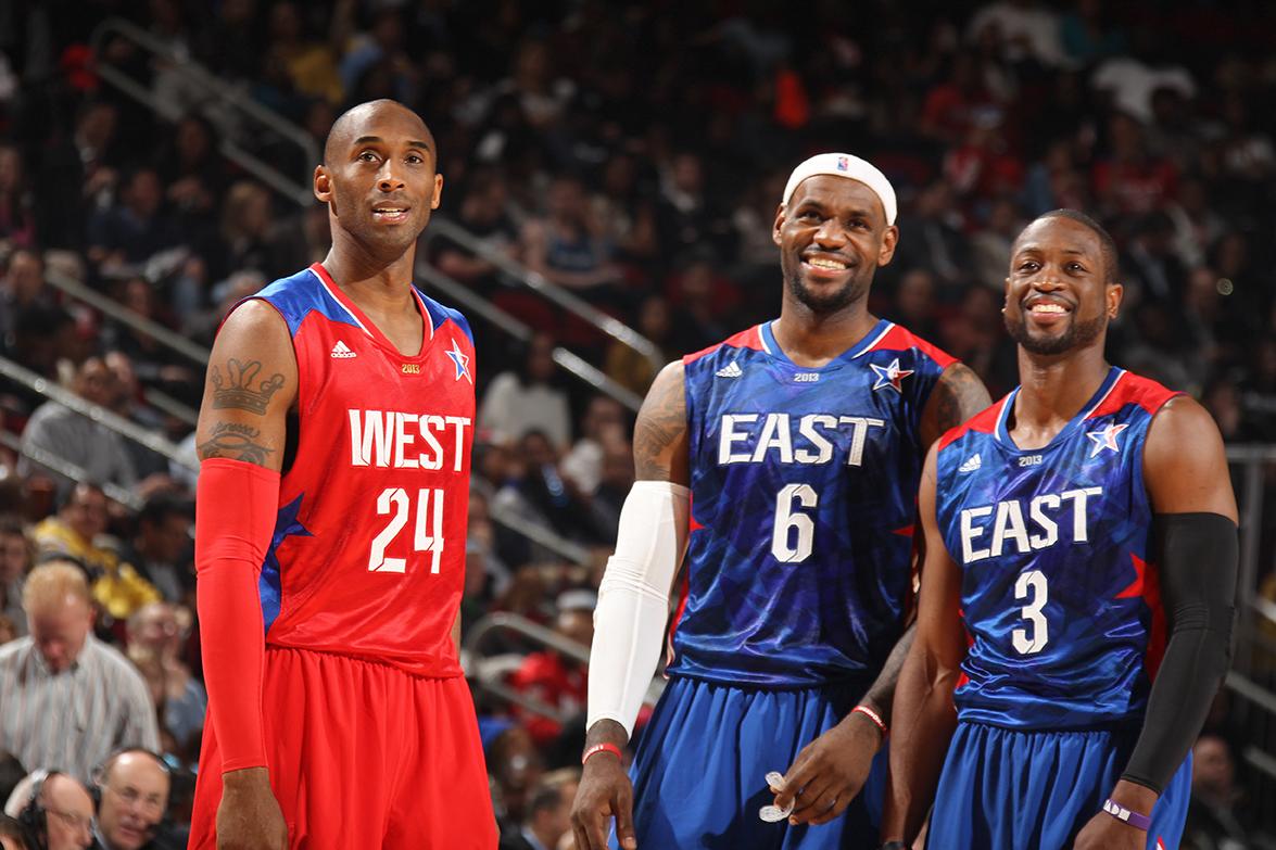 Kobe Bryant, LeBron James, Dwyane Wade en viva basquet