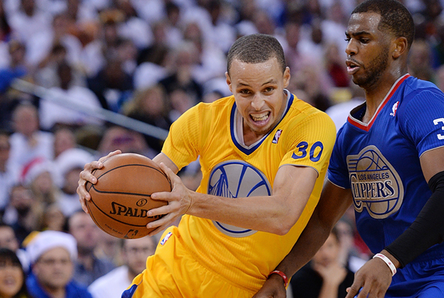 Los Angeles Clippers v Golden State Warriors. Stephen Curry en viva basquet