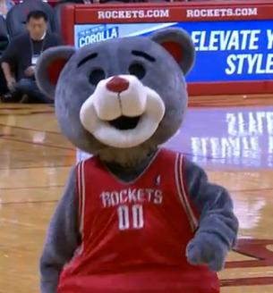 Clutch, mascota de los rockets en viva basquet