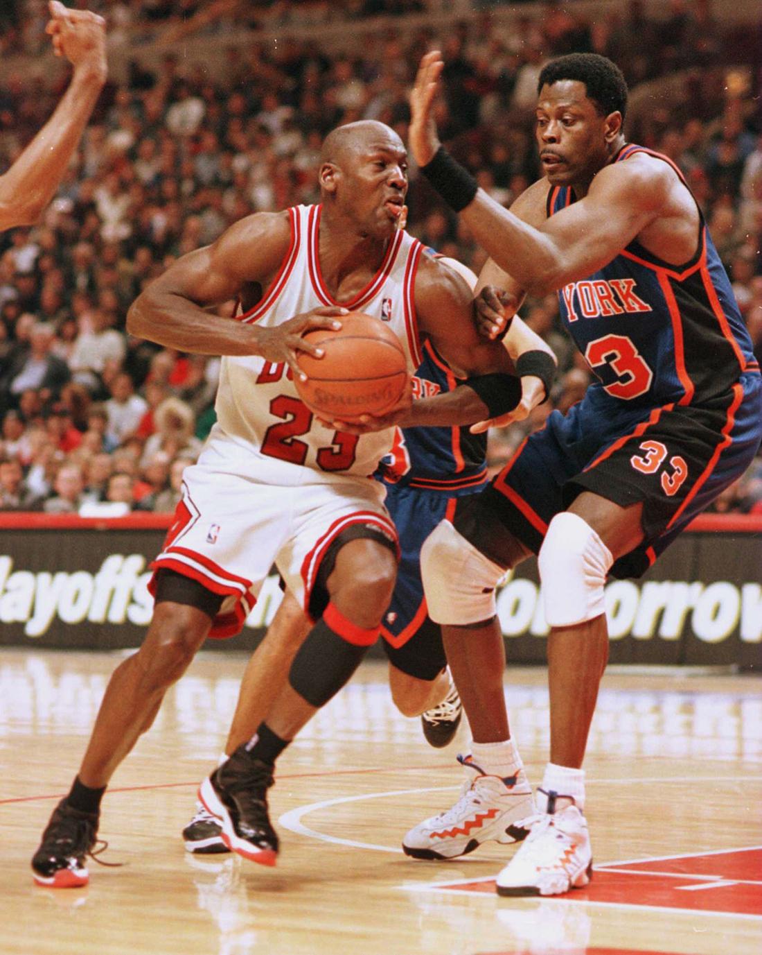 Michael Jordan & Patrick Ewing en viva basquet