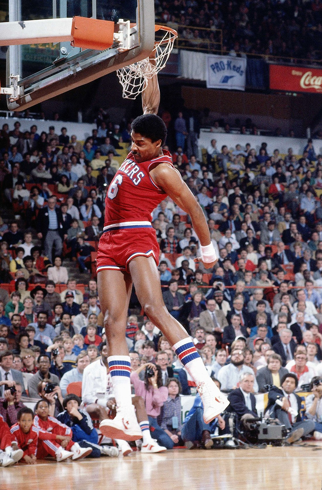 Julius Erving en 1986 All-Star Slam Dunk Contest en viva basquet