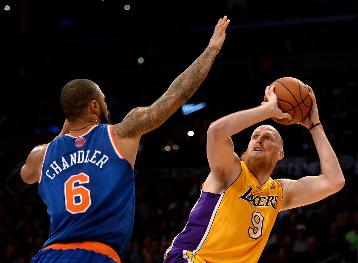 Chris Kaman de los lakers en viva basquet