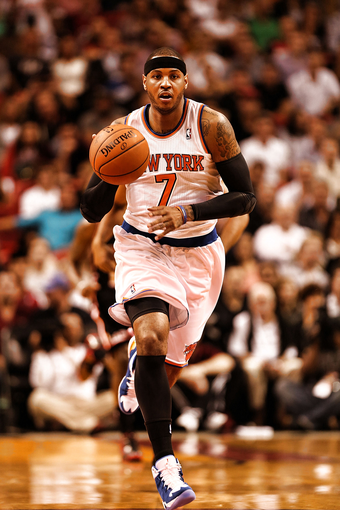 Carmelo Anthony de los New York Knicks v Miami Heat en viva basquet