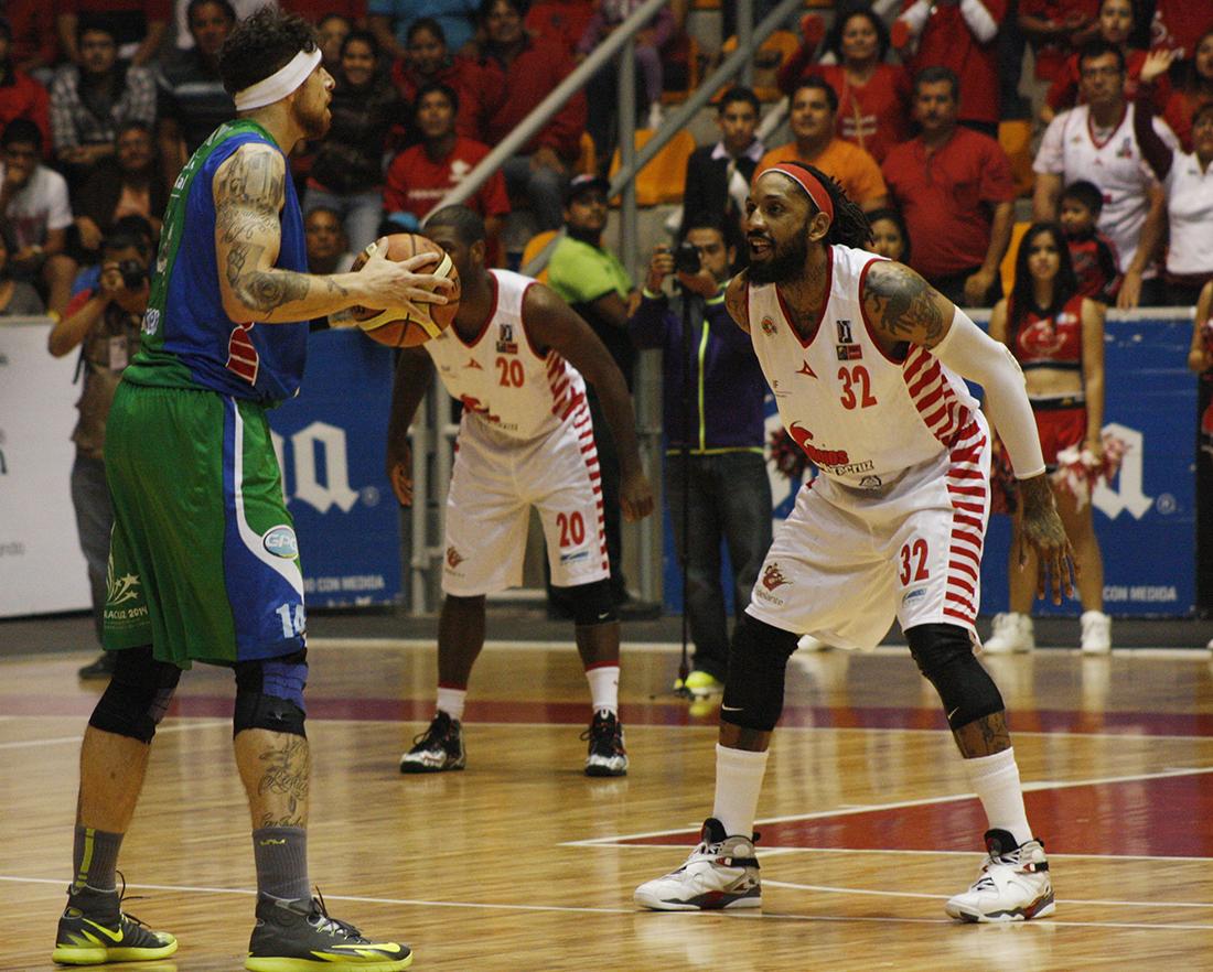 ROJOS VS XALAPA semifinales lnbp en viva basquet