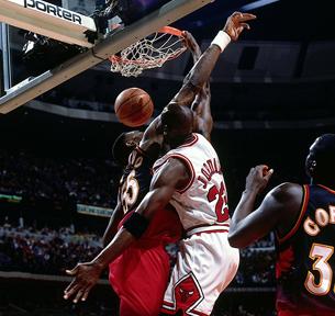Michael Jordan en viva basquet
