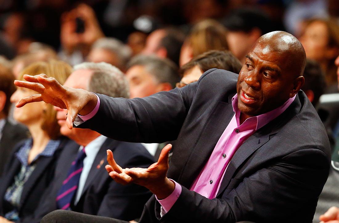 reaccion de magic ante comentarios de starling en viva basquet