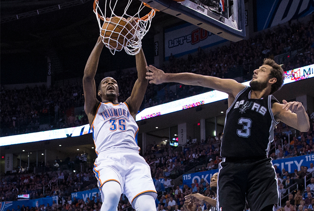 THUNDER VS SPURS en viva basquet