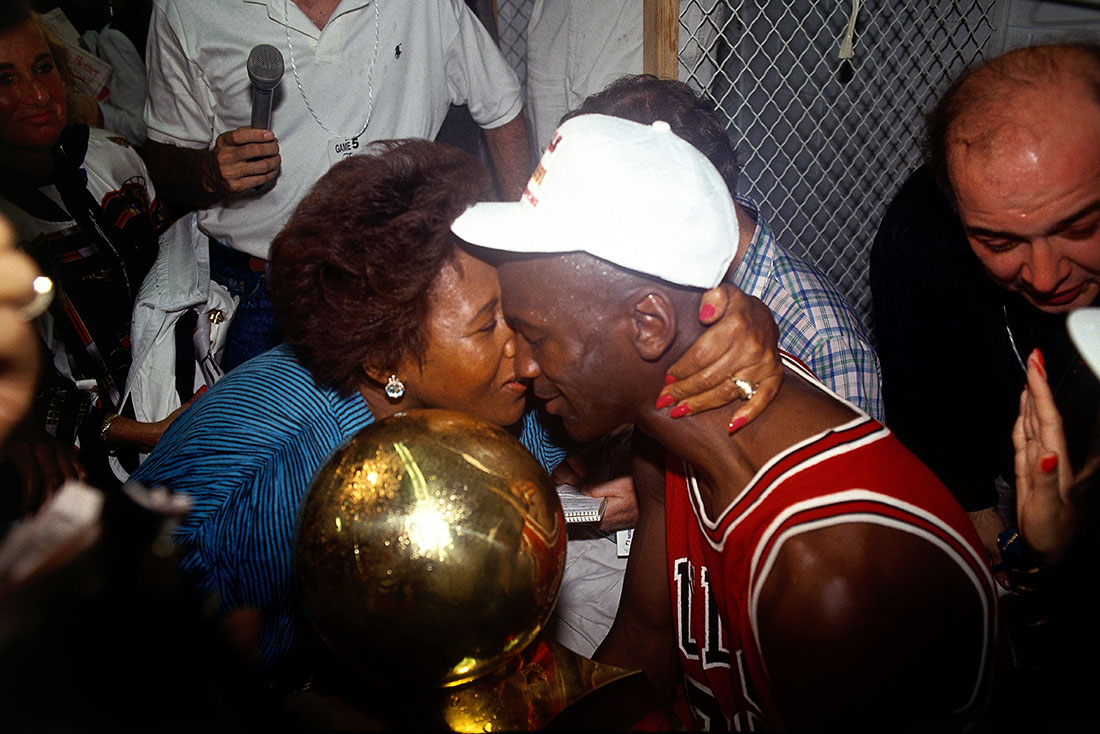 la mama de Michael Jordan en viva basuqet