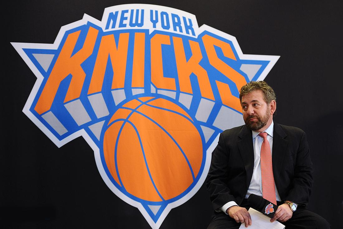 James Dolan, dueño de los Knicks. en viva basquet