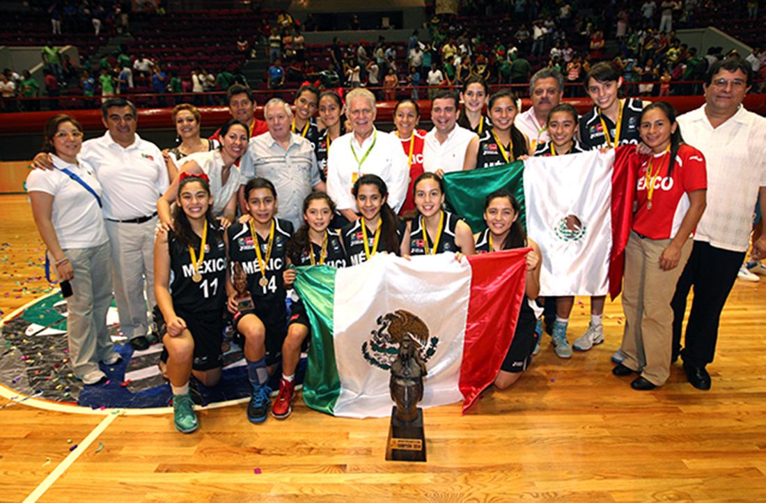 mexicanas campeonas en la sub 15 de basquetbol femenil en viva basquet