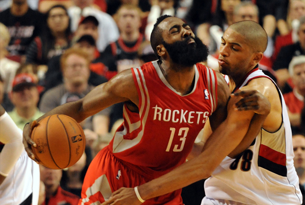 James Harden de Houston Rockets v Portland Trailblazers Ð Game Three en viva basquet