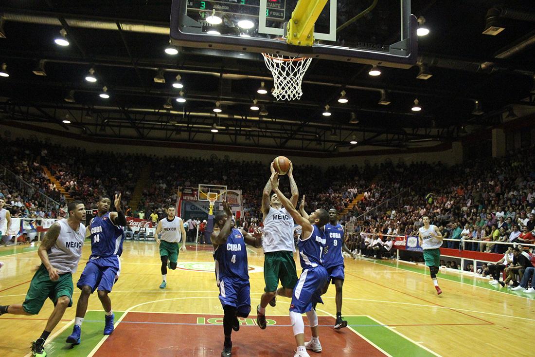 seleccion mexicana de basquetbol contra cuba en viva basquet