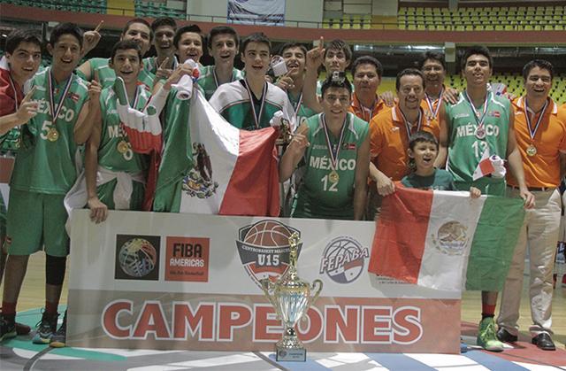 seleccion mexicana SUB15 CAMPEONES en viva basquet