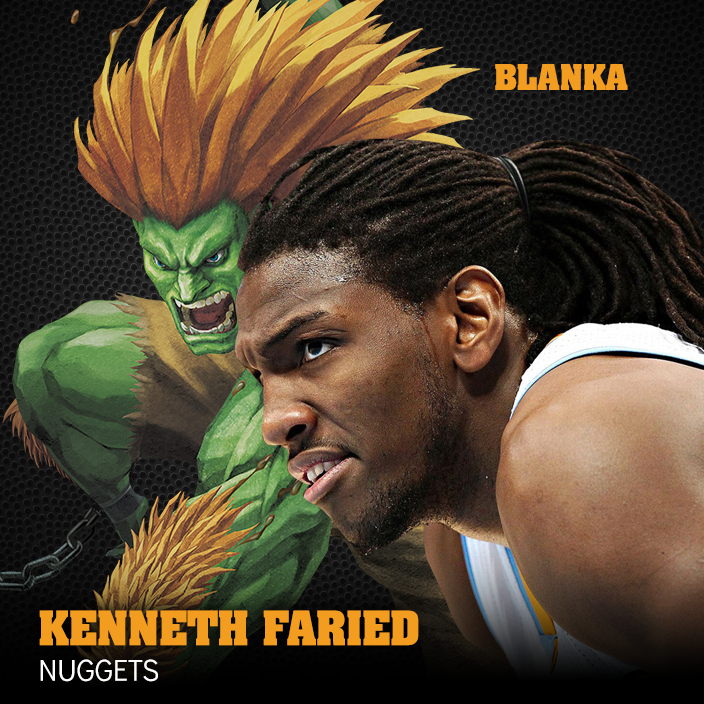BLANKA y kenneth faried en viva basquet